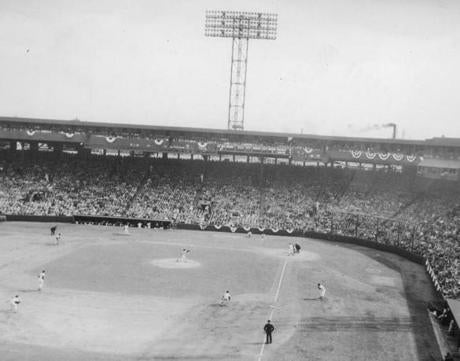 Fenway Park was full for Opening Day in 1956 against the Orioles.