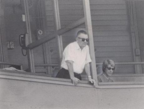 Team owner Tom Yawkey and his wife, Jean, watched the game from their Fenway Park box on Sept. 18. 1965.