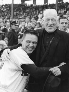 Red Sox manager Dick Williams shared a moment with Cardinal Richard Cushing on Oct. 11, 1967, when the Red Sox played Game 6 of the World Series against the Cardinals.