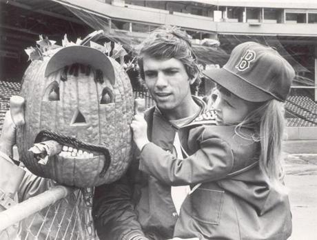 With the Red Sox involved in the World Series, Bill Lee and Tammy Patterson reviewed a pumpkin carved to look like fellow Red Sox pitcher Luis Tiant.
