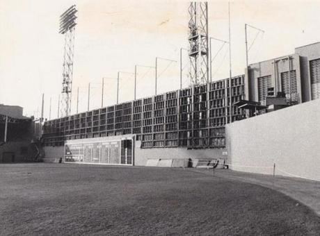 The Red Sox replaced the left field wall after the 1975 season.