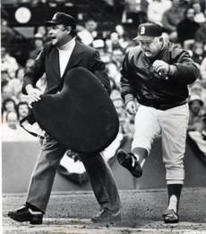 Red Sox manager Don Zimmer was ejected from this game on Ap