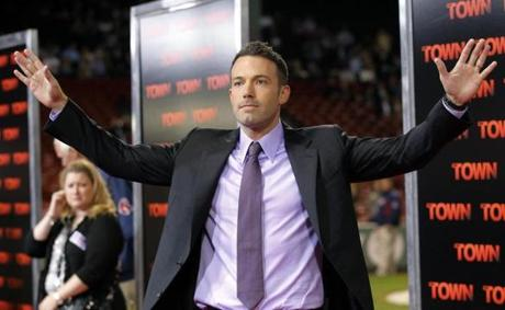 "Ben Affleck brought the premiere of ""The Town,"" which has many of its scenes set at Fenway, to Fenway Park."