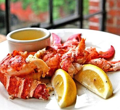 Steamed lobster from Fore Street restaurant in Portland.