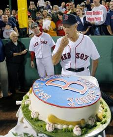 The Red Sox celebrated Johnny Pesky's 87th birthday on Sept. 27, 2006.