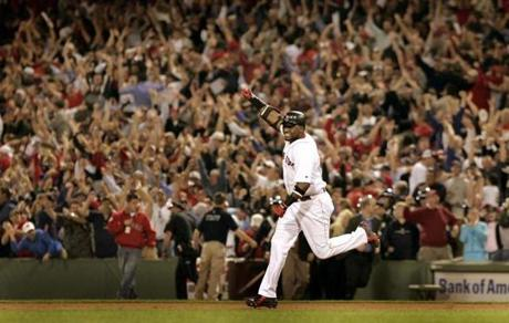 David Ortiz hit a walkoff home run to close out a sweep of the Angels in Game 3 of the 2004 ALDS.