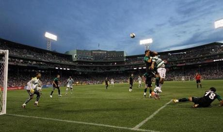 Soccer returned to Fenway Park for the first time in more than four decades when Sporting Lisbon and Celtic FC faced off on July 21, 2010.