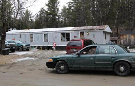 Police searched the home of Allen and Patricia Prue Wednesday in Waterford, Vt.