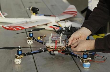 Mark Harrison prepared his drone for a flight over a Berkeley, Calif., park. New rules for drone use are coming soon.