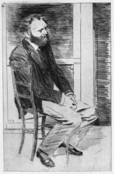 Included in the Manet exhibit is an etching of the artist made by Edgar Degas.
