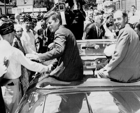 McGovern, then a congressman, campaigned with Senator John F. Kennedy in Sioux Falls, S.D., in June 1960.