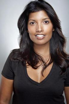 Nidhi Handa's headshot for her realty website, liveandloveinla.com.