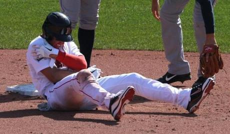 Jacoby Ellsbury missed about three months after suffering this injury in the home opener.