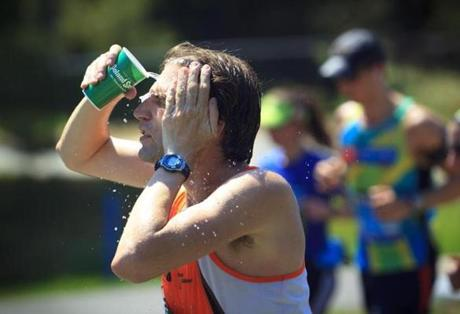 The Wellesley water station continued to provide relief to runners of the second-slowest Boston Marathon since 1985.