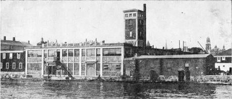 The firm's building on the Gloucester waterfront in 1930.