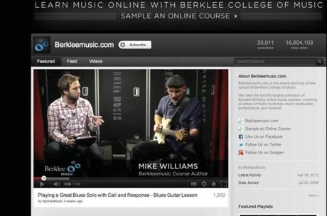 BERKLEE COLLEGE OF MUSIC SCREENSHOT