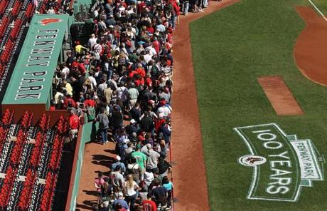 Thousands of people turned out for the open house the Red Sox hosted at Fenway Park on Thursday.