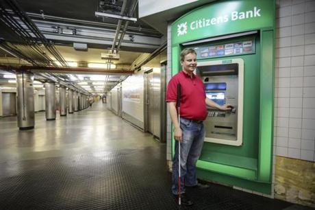 Mika Pyyhkala, president of the National Federation of the Blind, initially had some trouble with a Citizens Bank ATM.