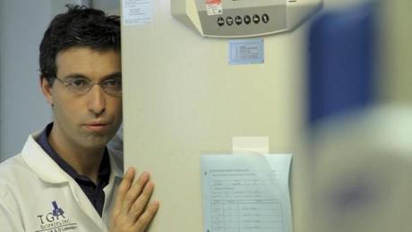 Karpovsky plays a disturbed lab technician in the movie.