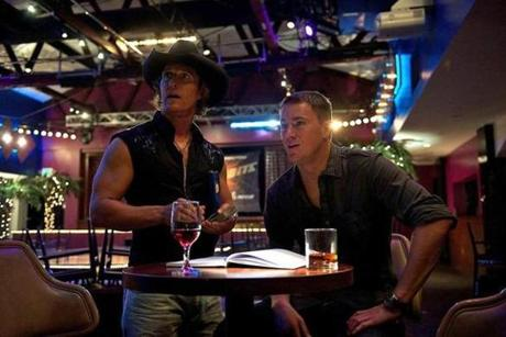 "Matthew McConaughey and Channing Tatum in ""Magic Mike."""