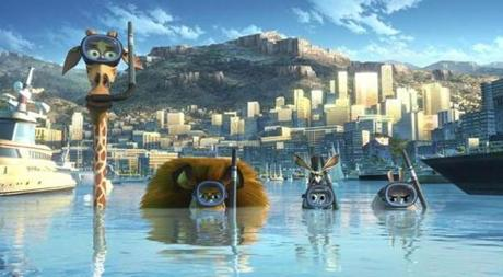 "The characters of animated film ""Madagascar 3: Europe's Most Wanted."""