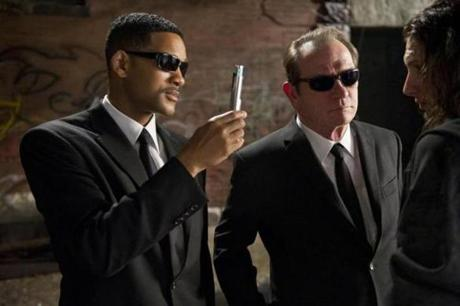 "Will Smith, left, and Tommy Lee Jones in ""Men in Black 3."""