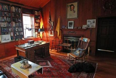 Patton's office at the house.
