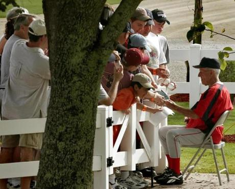Pesky was a favorite of players and fans alike. He drew mobs of fans seeking his autograph at spring training in 2006.