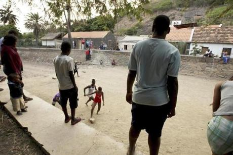 Young women played soccer at Cidade Velhia. With no natural resources, Cape Verde must become a knowledge-based economy, Prime Minister José Maria Neves said.
