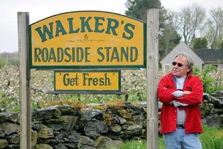 Coll Walker owns Walker's Roadside Stand, a Little Compton, R.I., farm stand revered in local food circles