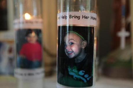 Gloucester, MA - 5-16-12 - A shrine has been set up in the Harrison home for missing Caleigh Harrison (cq). (Globe staff photo / Bill Greene) section:g, reporter:english, Topic: harrison