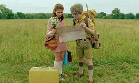 "Kara Hayward as Suzy and Jared Gilman as Sam in a scene from Wes Anderson's ""Moonrise Kingdom.''"