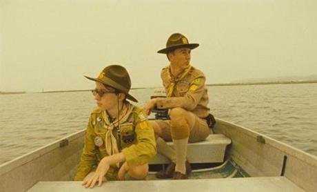 "Edward Norton (at right) stars as Scout Master Ward in ""Moonrise Kingdom."""