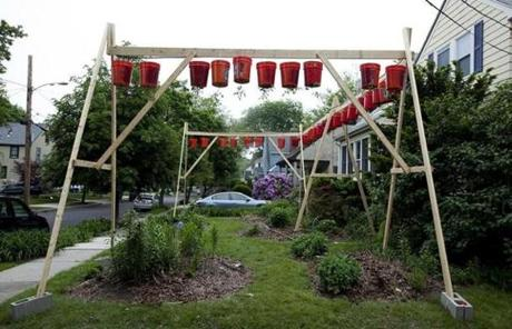 Newton city officials say Katzoff's garden is a prohibited accessory structure, much like a swing set or swimming pool.
