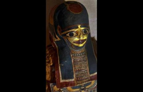 Detail of a mummy in the exhibit.