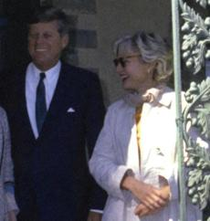 Possibly the only picture of Mary Meyer and President Kennedy together, taken in 1963.