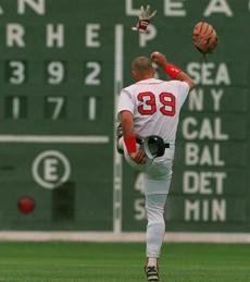 After Mark McGwire's three home runs buried the Red Sox in a 3-1 hole, an annoyed Mike Greenwell vented following an inning-ending double play in the bottom of the eighth.