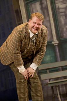 "James Corden in a scene from ""One Man, Two Guvnors."""