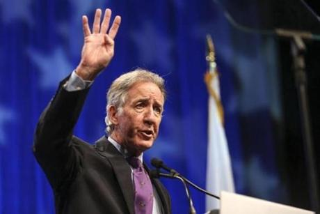 Congressman Richard Neal spoke to the convention attendees.