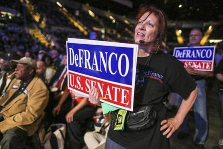 Elizabeth Steiner Milligan showed her support for DeFranco.