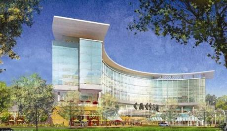 Architectural rendering of the proposed resort casino at Suffolk Downs