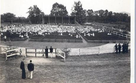 The horse ring on Dan Hanna's farm was the site of the first Berkshire Symphonic Festival concert on August 25, 1934. Henry Hadley conducted 65 members of the New York Philharmonic. (David Milton Jones)