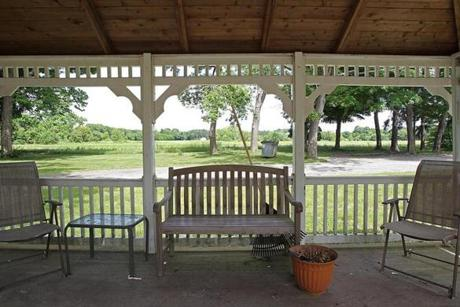 One of the gazebos that residents can enjoy on the hospital grounds.