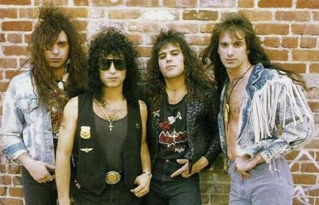 The band Mass, seen  here in 1988, will join other metal stalwarts in a heavy metal reunion in Foxborough Saturday.