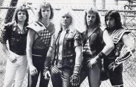 The band Steel Assassin in 1984.