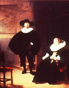 Rembrandt, A Lady and Gentleman in Black: Stolen from the Dutch Room. Oil on canvas, 131.6 x 109 cm. Inscribed at the foot, REMBRANDT. FT: 1633.