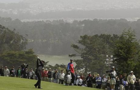Scenic views of San Francisco can be scene from the course, which is hosting its fifth US Open.