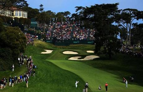 This year's US Open is being held the Olympic Club in San Francisco. The course has no water, but treacherous bunkers.