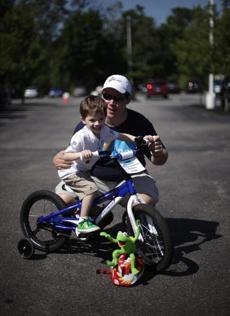 Chris Smith will be riding in his second Pan-Massachusetts Challenge. His 3-year-old son Jack rode in the Kids Ride.