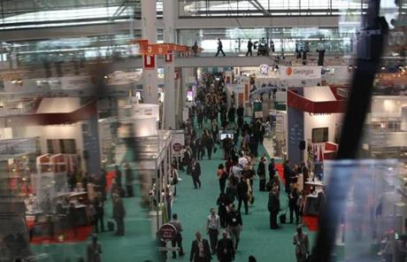 Thousands filled the Boston Convention and Exhibition Center on the first day of the BIO International Convention.